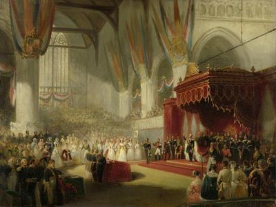 Inauguration of King William II in the Nieuwe Kerk in Amsterdam on 28 November
