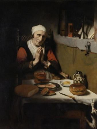 Old Woman Saying Grace, known as 'The Prayer Without End', C.1656