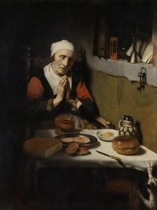 Old Woman Saying Grace, known as 'The Prayer Without End', C.1656 by Nicolaes Maes