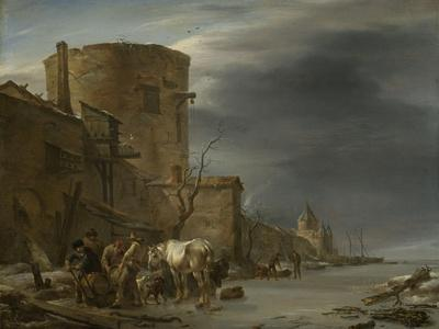 City Wall of Haarlem in the Winter