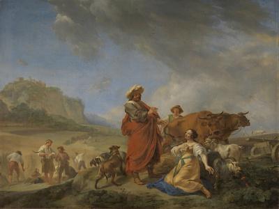 Ruth and Boas, Nicolaes Pietersz Berchem