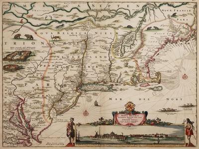Novi Belgi Novaeque Angliae [New Netherland and New England], 1682