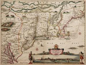 Novi Belgi Novaeque Angliae [New Netherland and New England], 1682 by Nicolaes the Younger Visscher