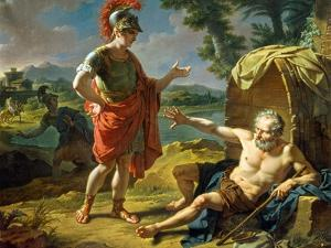 Alexander and Diogenes, 1818 by Nicolas André Monsiau