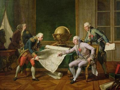 Louis XVI (1754-93) Giving Instructions to La Perouse, 29th June 1785, 1817