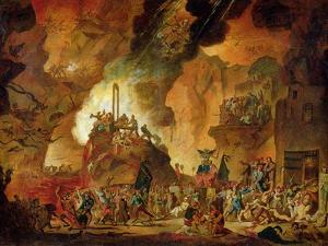 The Triumph of the Guillotine in Hell by Nicolas Antoine Taunay