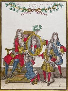 The French Royal Family Holding a Portrait of Louis Xiv, Late Seventeenth Century by Nicolas Arnoult