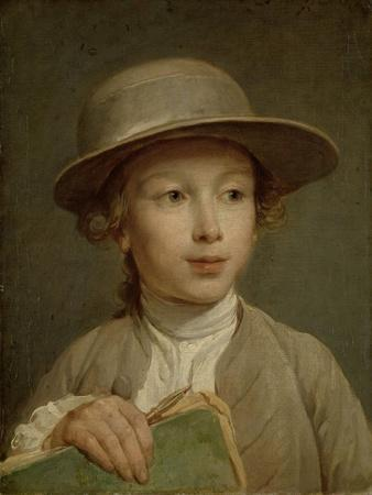 Boy with a Drawing Book