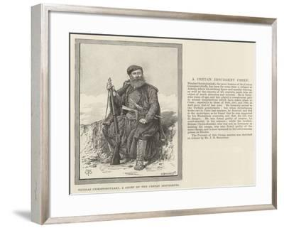 Nicolas Christodoulaki, a Chief of the Cretan Insurgents-Thomas Harrington Wilson-Framed Giclee Print