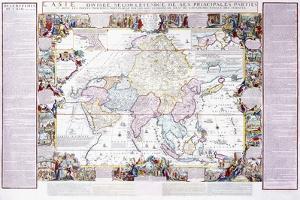 Map of Asia, 1740 by Nicolas De Fer