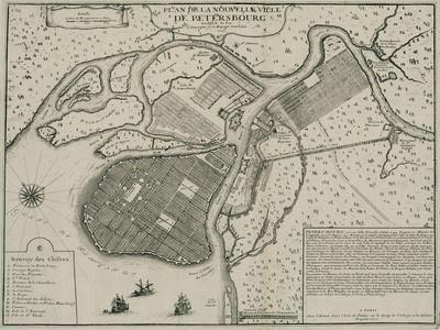 Map of Petersburg, 1717