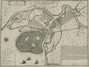 Map of Petersburg, 1717 by Nicolas De Fer