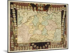 Map of the German Empire with Portraits of the Holy Roman Emperors, Published by Louis-Charles… by Nicolas De Fer