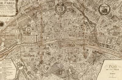 Plan de la Ville de Paris, 1715 by Nicolas De Fer