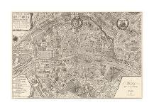 Map of the German Empire with Portraits of the Holy Roman Emperors, Published by Louis-Charles…-Nicolas De Fer-Giclee Print