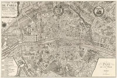 Plan de la Ville de Paris, 1715