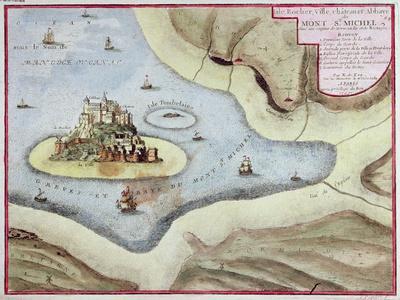 The Town, Castle and Abbey of Mont Saint-Michel, 1703