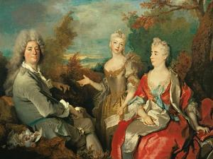 Family Portrait by Nicolas de Largilliere