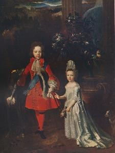 James Francis Edward Stuart (1688-1765), Louisa Maria Theresa Stuart (1692-1712), 1695, (1911) by Nicolas de Largilliere