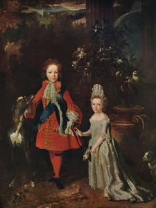 James Francis Edward Stuart (1688-1765), Louisa Maria Theresa Stuart (1692-1712), 1695, (1915) by Nicolas de Largilliere