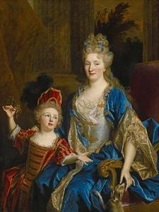Portrait of Catherine Coustard, Marquise of Castelnau, with Her Son Leonor, C.1699 by Nicolas de Largilliere