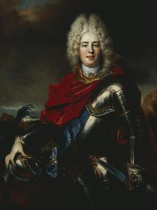 Portrait of Frederick Augustus II of Saxony (1696-1763), Later King Augustus III of Poland by Nicolas De Largilliere