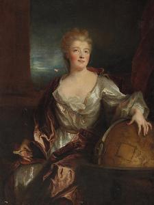 Portrait of Gabrielle Emilie Le Tonnelier De Breteuil, Marquise Du Chatelet by Nicolas de Largilliere