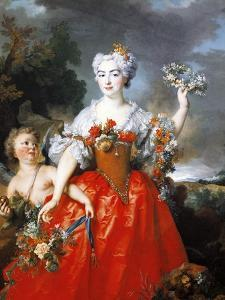 Portrait of Madame De Gueidan as Flora, 1730 by Nicolas de Largilliere