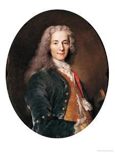 Portrait of Voltaire (1694-1778) Aged 23, 1728 by Nicolas de Largilliere