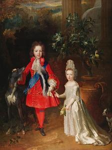 Prince James Francis Edward Stuart and Princess Maria Theresa Stuart, 1695 by Nicolas de Largilliere