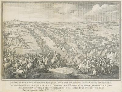 The Battle of Poltava on 27 June 1709