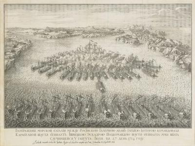 The Naval Battle of Gangut on July 27, 1714