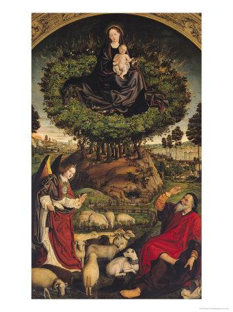 Madonna and Child, Central Panel from the Triptych of Moses and the Burning Bush, circa 1476
