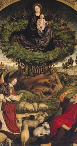 Madonna and Child, Central Panel from the Triptych of Moses and the Burning Bush, circa 1476 by Nicolas Froment
