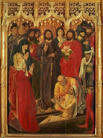 The resurrection of Lazarus, center panel of a triptych