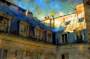 Paris Roof in Blue, France by Nicolas Hugo
