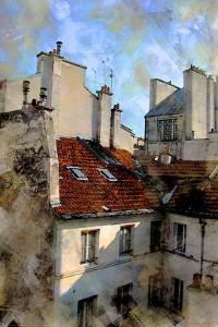 Red Roof in Paris, France by Nicolas Hugo