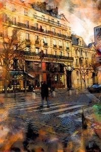 St. Germain Cross Walk, Paris, France by Nicolas Hugo