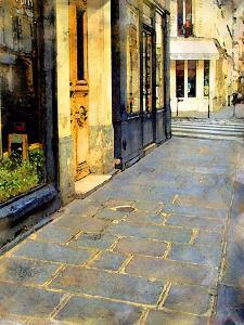 Stone Pavement in Paris, France by Nicolas Hugo