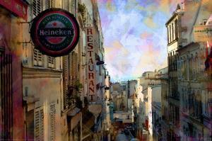 Street View at Montmartre, Paris, France by Nicolas Hugo