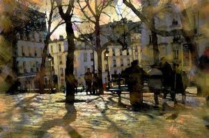 Winter in Montmartre, Paris, France by Nicolas Hugo