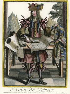 Habit de Tailleur (Fantasy costume of a Men's Tailor with Attributes of His Trade) by Nicolas II de Larmessin