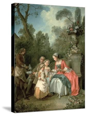 A Lady and a Gentleman in the Garden with Two Children c. 1742 (Detail)