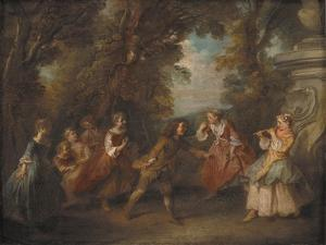 Children at Play in the Open, 1705-43 by Nicolas Lancret
