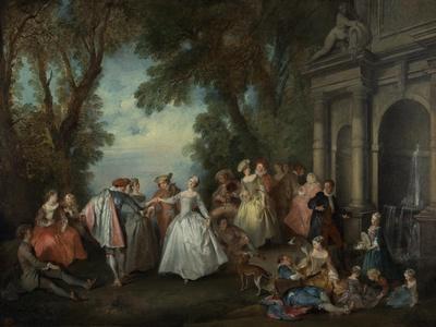 Dance before a Fountain, c.1724
