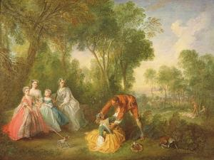 La Famille De Bourbon-Conti by Nicolas Lancret