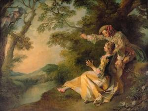 Lovers in a Landscape by Nicolas Lancret