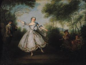 Marie-Anne Cuppi (1710-70) known as La Camargo, Dancing, 1730 by Nicolas Lancret