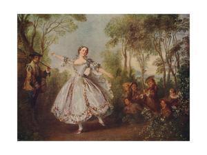 'Mlle. Camargo Dancing', 1730, (c1915) by Nicolas Lancret