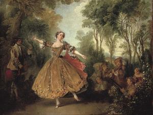 Mlle Camargo Dancing by Nicolas Lancret
